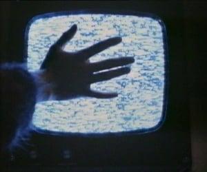 tv, grunge, and hand image