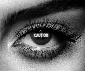 aesthetic, black and white, and eye image