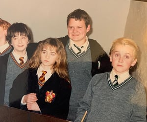 harry potter, draco malfoy, and emma watson image