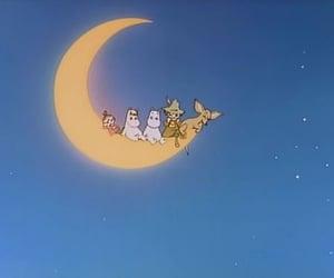 moon, cute, and anime image