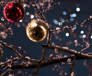 background, lights, and snow image