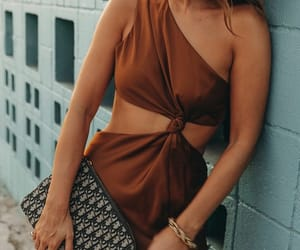 blogger, brown dress, and dior image