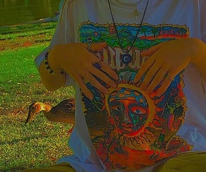 hands, sunshine, and t-shirt image