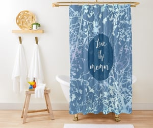 bathroom, blue, and homedecor image