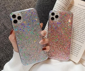 book, case, and glitter image