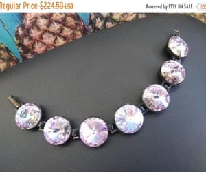 Very pretty lavender purple Rivoli rhinestone large headlight image 0
