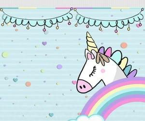 kawaii, phone, and unicorn image