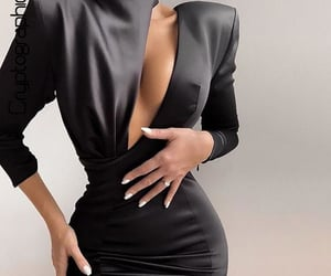 black dress, body, and fashion image