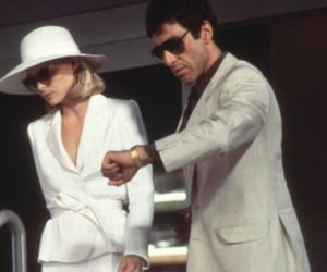 scarface, al pacino, and couple image