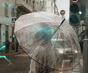rain, fashion, and umbrella image