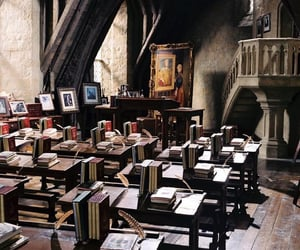 harry potter, hogwarts, and classroom image