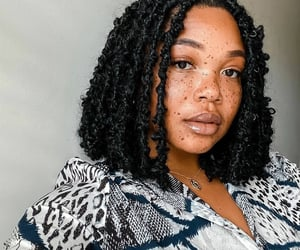 black women, brown eyes, and freckles image