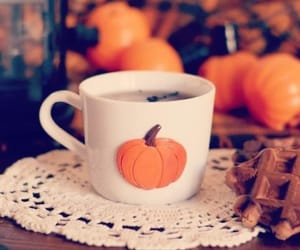 waffle, autumn, and cup image