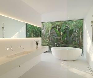 bathroom, inspo, and plant image