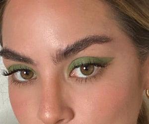 green, eyes, and makeup image