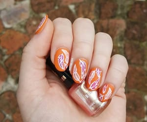 feathers, freehand, and nailart image