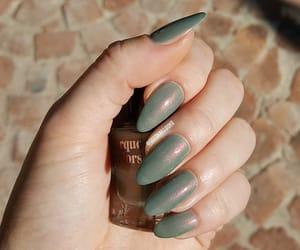 greennails, green, and shimmer image