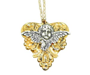 necklace, vintage, and pendant image