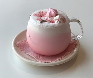 pink, food, and drink image