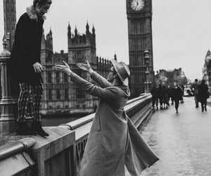 couple, black and white, and london image
