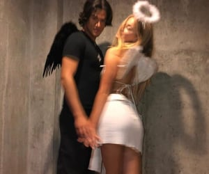 couple, angel, and Halloween image