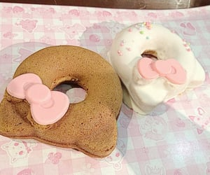 hello kitty, sweet, and donuts image