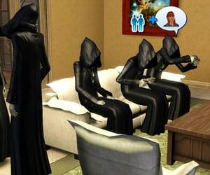 black, cult, and dark image