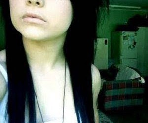 scene, emo, and black hair image