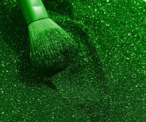 aesthetic, glitter, and green image