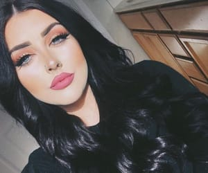 black hair, makeup, and hair inspo image