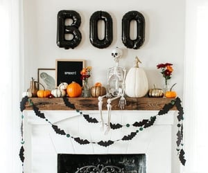 Halloween, black, and decor image