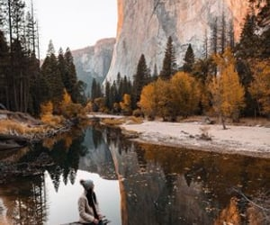 cliff, beauty, and mountains image