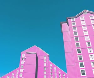 architecture, colorful, and pink image