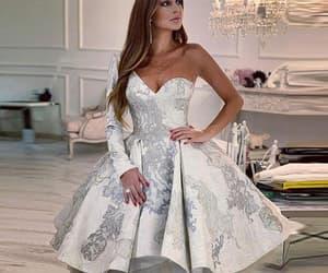 cocktail dresses, white prom dress, and robe de soirée image