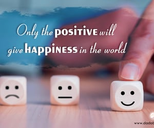 happiness, positive, and thoughts image