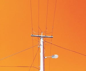 minimalism, orange, and skies image