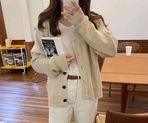 asian, coffee shop, and outfit image