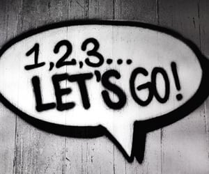 1 2 3, speech bubble, and let's go image