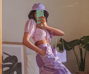 aesthetic, clothes, and lavender image