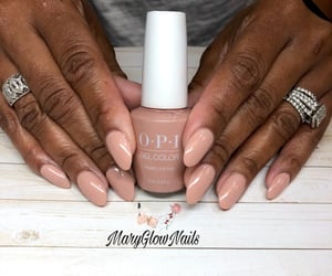 acrylics, nails, and nude nails image