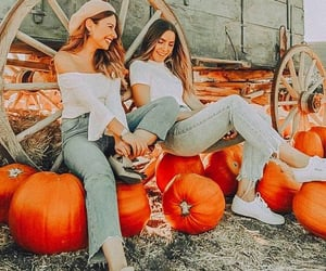 aesthetic, autumn, and besties image