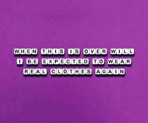 pandemic, words, and purple image