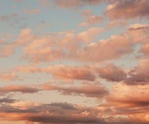 orange, clouds, and sky image