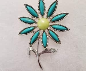 blue and green, etsy, and vintage jewelry image