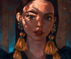 art, beautiful, and disney princess image