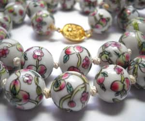 bead necklace, etsy, and asian jewelry image