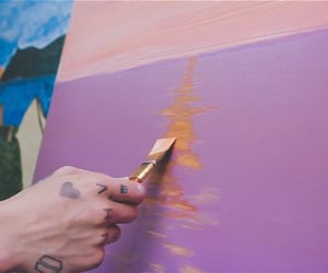 paint, pink, and purple image