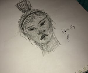 pencil, weird, and rough sketch image