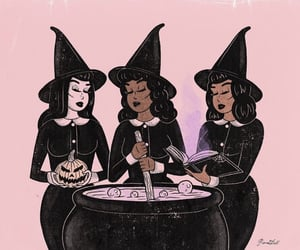 witch, aesthetic, and art image