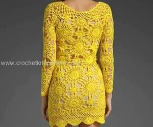 crochet, dress, and dresses image